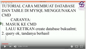 Tutorial Membuat Database dan Tabel Mysql dengan CMD