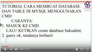 Tutorial Membuat Database dan Tabel Mysql dengan CMD
