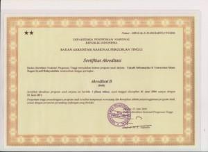 Akreditasi Teknik Informatika UIN Jakarta 2006