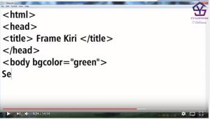 Tutorial Membuat Frame HTML